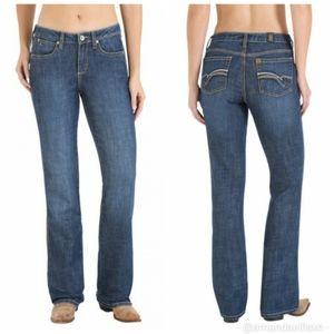 Aura from the Women at Wrangler Short Rise Jeans
